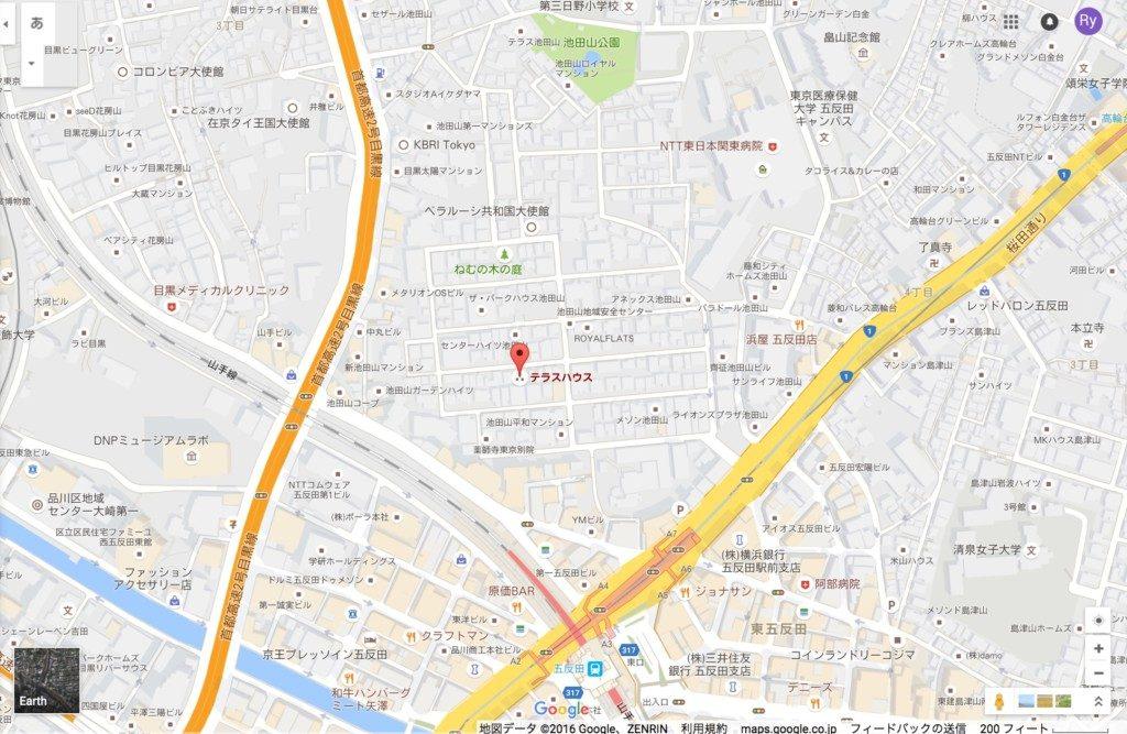 テラスハウス東京場所